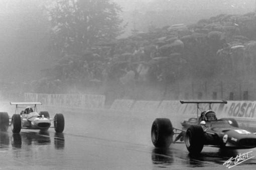Jacky Ickx e Jackie Stewart quase se reencontraram nas pistas nos anos 80. Ao lado de Nelson Piquet e Ayrton Senna