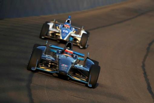 Rubens Barrichello em Fontana nesse ano. Uma de suas únicas quatro corridas em oval na vida