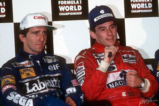 Assim como ocorre atualmente, os espectadores preferiam Senna e os jornalistas eram mais tolerantes com Prost