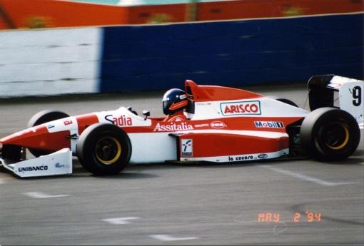 Diniz na etapa de Silverstone da Fórmula 3000 em 1994
