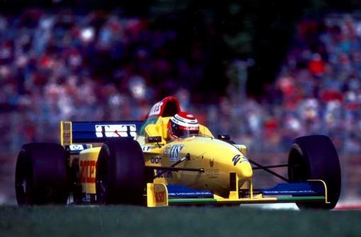 ... Andrea Montermini se fodia com o velho FG01B no circuito italiano