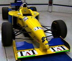 O carro que a Forti-Corse utilizaria nas primeiras corridas de 1996