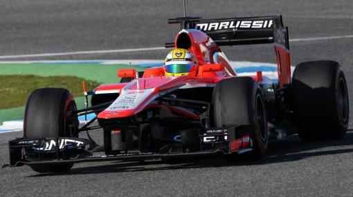 Luiz Razia em Jerez. Uma de suas poucas fotos como piloto titular da Marussia? Espero que não
