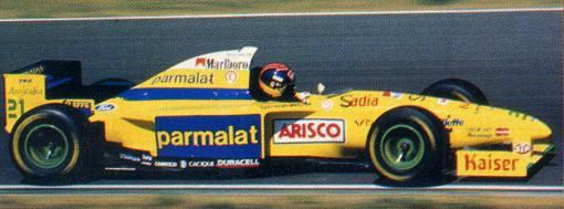 Pedro Paulo Diniz, o único piloto da Forti-Corse com câmbio semiautomático no Estoril