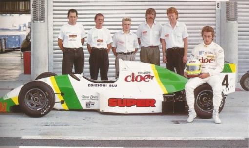 Giovanni Bonanno e sua equipe familiar, a BG F3000