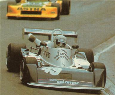 José Dolhem, o irmão do Pironi, e o primeiro carro de Fórmula 2 da AGS. Pau, 1979