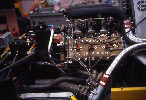 O terrível motor Motori Moderni, o primeiro adotado pela AGS