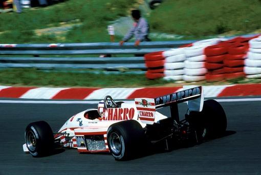 Pascal Fabre na última corrida em que conseguiu chegar ao fim, o GP da Hungria