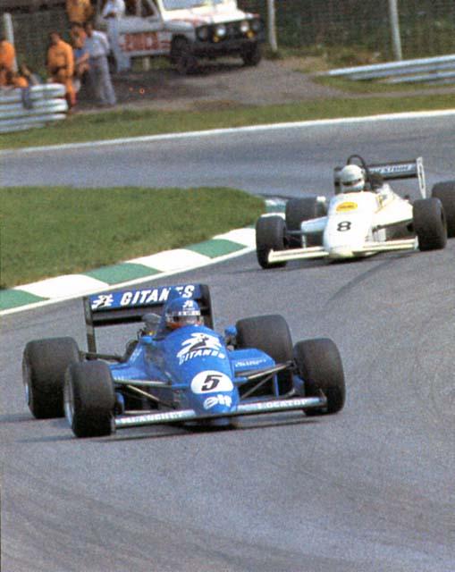 Streiff na etapa de Österreichring da Fórmula 3000 em 1985. Esta foi uma de suas melhores atuações na temporada