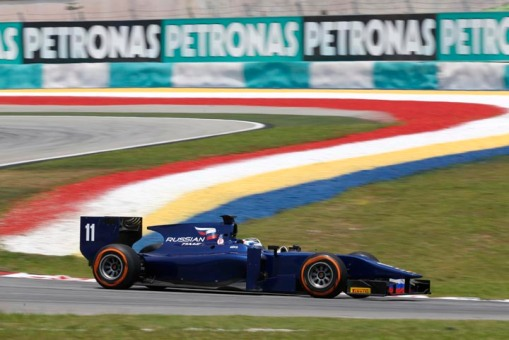 Carro da equipe Russian Time na GP2: mais um sinal do aumento da presença da Rússia no automobilismo nesse ano