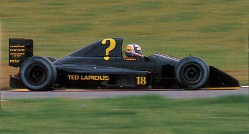 Yannick Dalmas em Interlagos, fazendo a primeira corrida da AGS (e dele próprio) desde havia muito tempo...