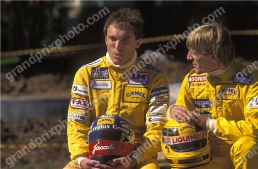 A dupla da AGS no início de 1989, Philippe Streiff e o MUSO SÓ QUE NÃO Joachim Winkelhock
