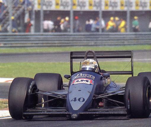 Gabriele Tarquini em sua primeira corrida na AGS, o GP de San Marino