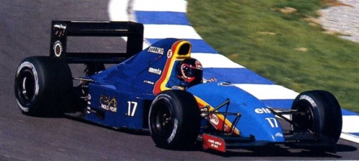 Olivier Grouillard em seu único fim de semana de Fórmula 1 com a AGS