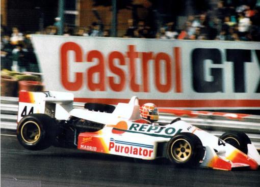 O espanhol Alfonso Garcia de Vinuesa, que retornava à Fórmula 3000 após um acidente quase fatal em 1987