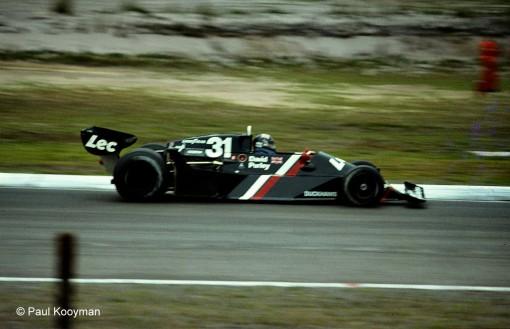 David Purley e o carro de Fórmula 1 da Lec no GP da Bélgica de 1977