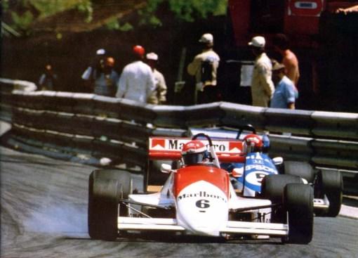Emanuele Pirro na etapa de Pau da temporada de 1986 da F-3000