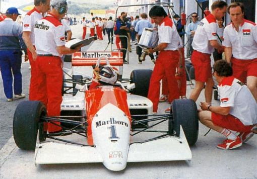 Volker Weidler em Vallelunga. Para a Onyx, a temporada de 1988 da F-3000 foi bem difícil