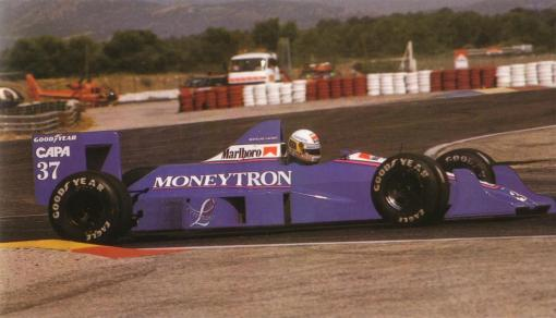 Bertrand Gachot fazendo sua primeira corrida na vida, o GP da França de 1989
