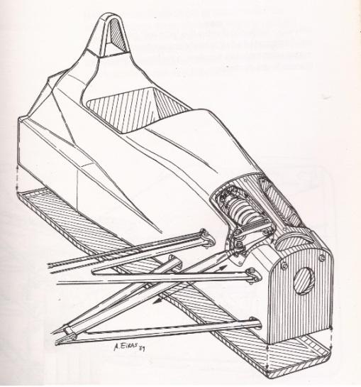 Uma reprodução da dianteira do Onyx ORE-1, a maior obra-prima da história da Fórmula 1