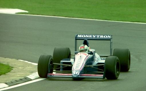 Stefan Johansson e a dura tarefa de tentar pré-classificar o Onyx-Ford em Silverstone