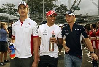 Hamilton entre dois de seus ex-amigos