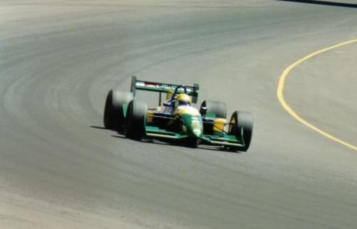 """Christian Fittipaldi em Phoenix, 1995. Ele foi um dos primeiros pilotos da fase """"internacionalizada"""" da Indy. Aparentemente, teremos algo parecido ocorrendo novamente daqui em diante"""